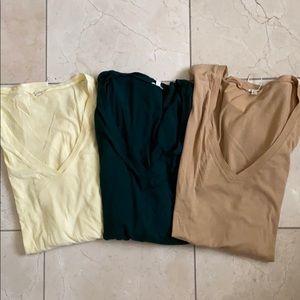 J Crew long sleeve tissue tees, size x-large